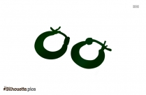 Small Hoop Earrings Silhouette Vector And Graphics