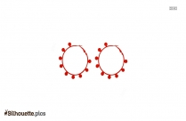 Hoop Earrings For Girls Silhouette Art