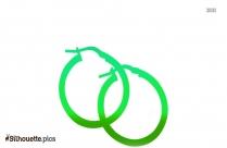 Hoop Earrings For Girls Silhouette Image And Vector