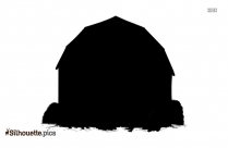 Gingerbread House Silhouette Icon