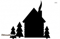 Black Small House Silhouette Silhouette Image