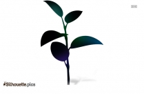 Small Plant Silhouette Image