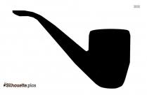 Smoking Pipe Silhouette Vector