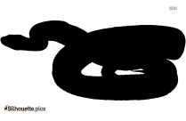 Angry Snake Silhouette Black And White