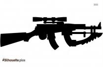 Thompson Machine Gun Clip Art Silhouette
