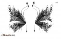 Snow Angel Wings Silhouette
