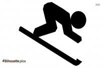 Snow Skiing Silhouette