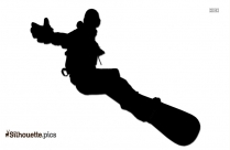 Snowboarding HD PNG Vector Silhouette