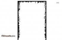 Snowflake Border Silhouette Black And White