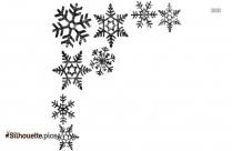 Snowflake Border Silhouette Clip Art