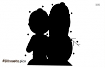 Snowman Cartoon Silhouette Clip Art