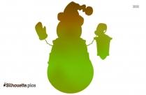 Christmas Tree Decoration Silhouette Image