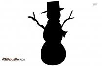 Snowman Clipart Silhouette