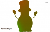 Snowman Painting Silhouette