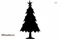Snowy Christmas Tree Silhouette