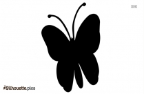 Flying Butterfly Silhouette Art