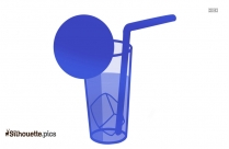 Soft Drink Silhouette Clip Art Image