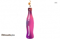 Soft Drink Silhouette Drawing