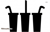Soft Drink Silhouette Vector Image