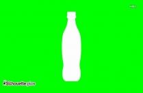Water Bottle Silhouette Vector