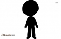 Hands Up Little Boy Silhouette