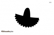 Sombrero Silhouette Drawing