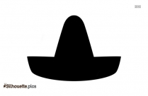 Cartoon Sombrero Hat Silhouette Vector