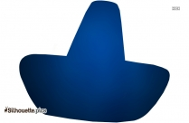 Black Sombrero Silhouette Image