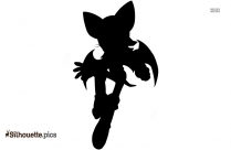 Free Sonic X Rouge Silhouette