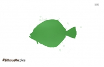 Discus Fish Silhouette Icon
