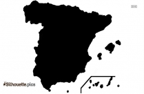 Spain Silhouette Drawing