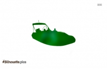 Speed Boat Silhouette Clipart Image