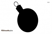 Sphere Christmas Decoration Icon Silhouette