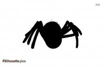 Spider Cartoon Silhouette Vector