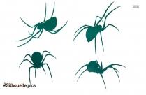 Black Widow Spider Vector Silhouette