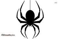 Spider Emoji Silhouette Background