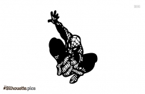 Free Spider Man Vector Silhouette Image