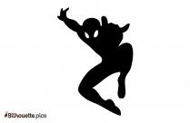 Spider Man Cartoon Superhero Vector Silhouette