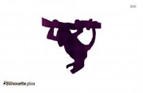 Spider Monkey Silhouette Free Vector Art