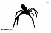 Spider Running Silhouette