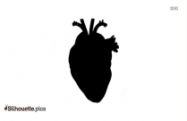 Heart Outline Silhouette Free Vector Art