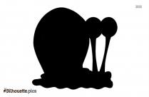 Spongebob Squarepants Cartoon Snail Silhouette