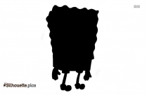 SpongeBob Cartoon Character Silhouette