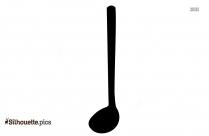 Black Cooking Pan Silhouette Image