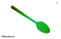 Black Large Spoon Silhouette Image