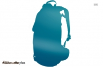 School Bag Silhouette Drawing Image