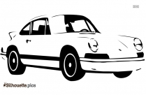 Car Side View Silhouette Clip Art Image