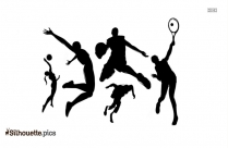 Basket Ball Silhouette Art