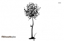 Pear Tree Silhouette Background