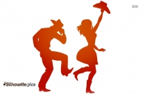 Couple Dancing Silhouette Background